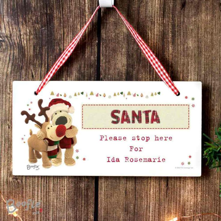 Boofle Christmas Wooden Sign