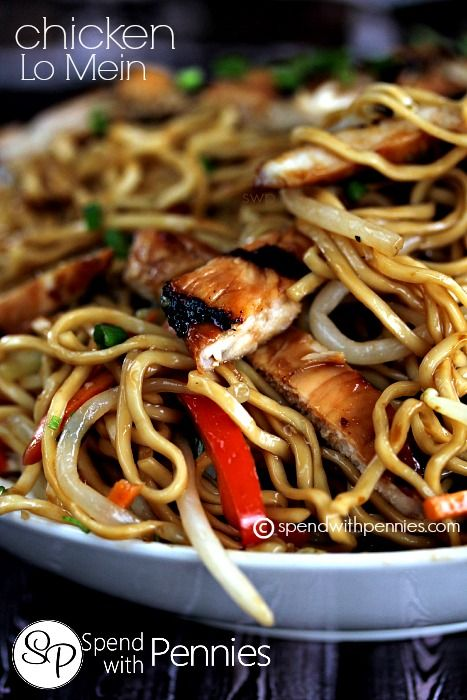 """Chicken Lo Mein.  Easy, amazing homemade """"take out""""!"""