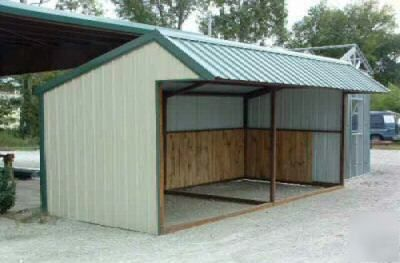 9X20 all steel loafing shed | candy's next project ...