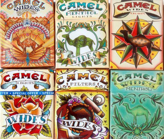 Hey, I found this really awesome Etsy listing at https://www.etsy.com/listing/104238916/tattoo-art-camel-cigarette-packs