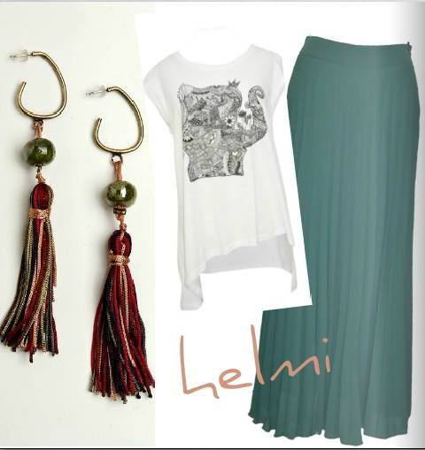 Mix & Match..  #maxi_skirt #top #earrings #new_collection  #shop_online: http://bit.ly/O7eOuY http://bit.ly/1m0p5r0 http://bit.ly/1ihGzMq