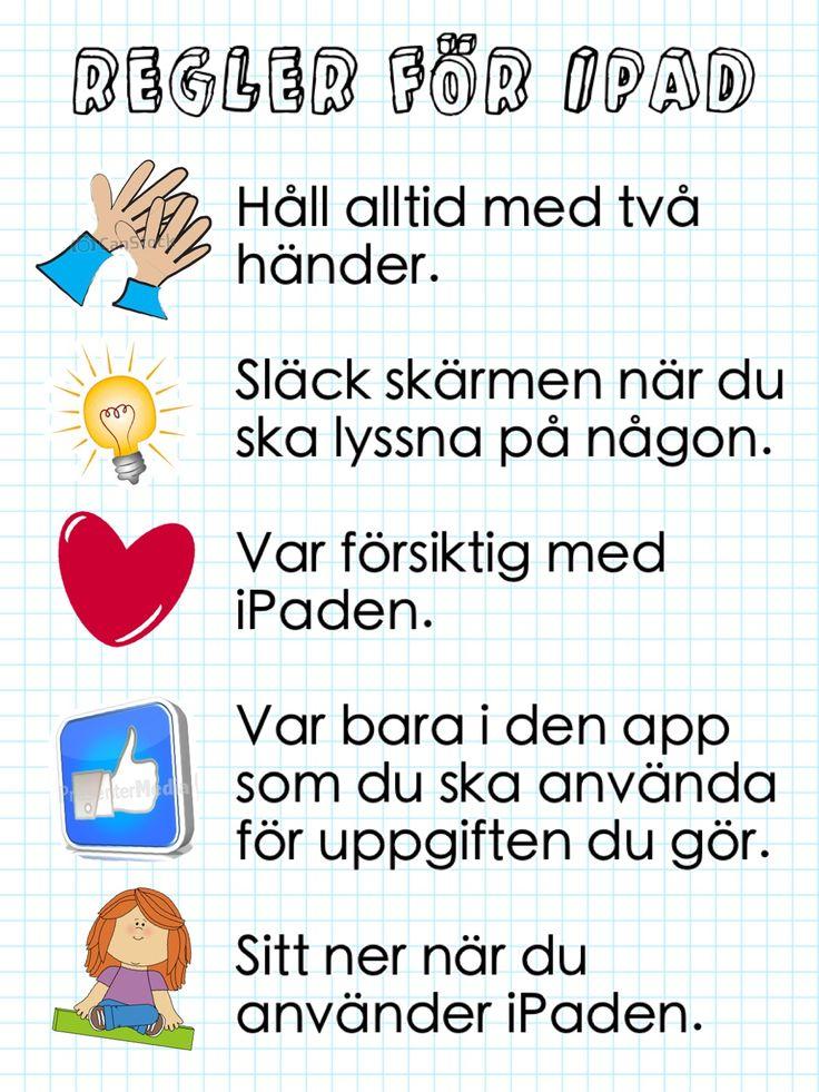 Nu kör vi igång med ASL! Tänkte mig några regler för användandet av iPad.