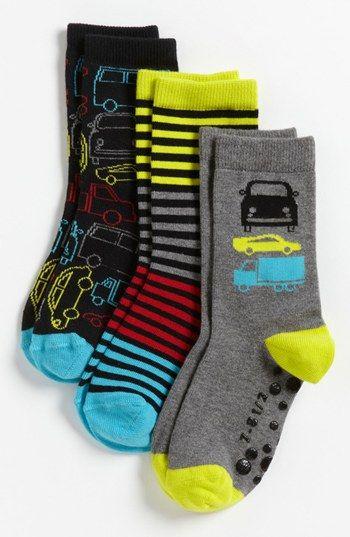 Nordstrom 'Zoom Zoom' Crew Socks (3-Pack) (Walker Boys, Toddler Boys & Little Boys) | Nordstrom