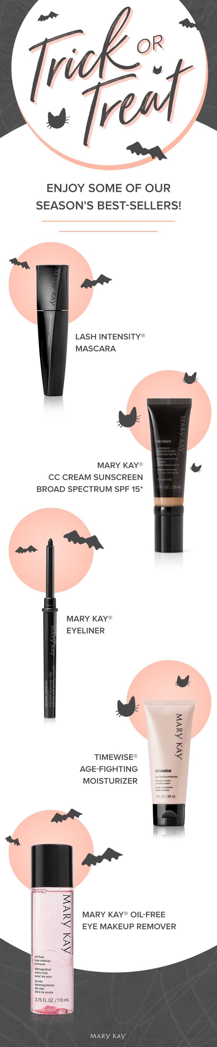 When you've got it, haunt it! Update your skin care and makeup routine with our best-sellers for fall. Click for more boo-tiful Halloween treats! | Mary Kay