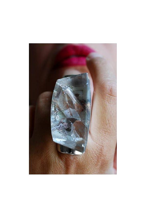 Pink Manifest Ring Rare Crystal Inclusions