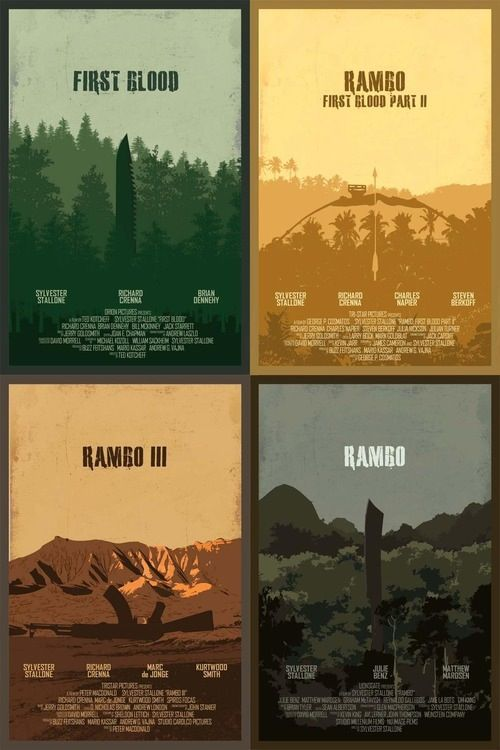 Posters for the 'Rambo' Series by Edgar Ascensão