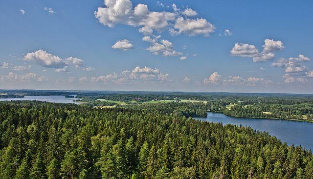A view fom the Aulanko Observation Tower, Hämeenlinna Finland by Juha Matti