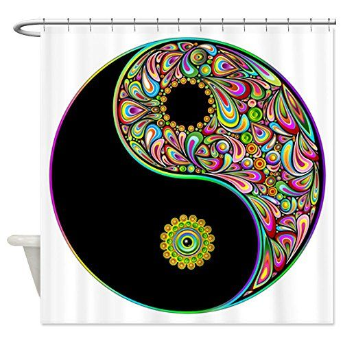 CafePress  Yin Yang Symbol Psychedelic Colors Shower Curtain  Decorative Fabric Shower Curtain ** Be sure to check out this awesome product.