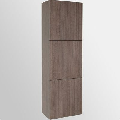 "Fresca 17.75"" x 59"" Bathroom Linen Cabinet & Reviews | Wayfair"