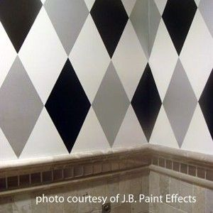 harlequin pattern on walls | Large Harlequin Wall and Floor Stencil | Shop interior_design, home ...