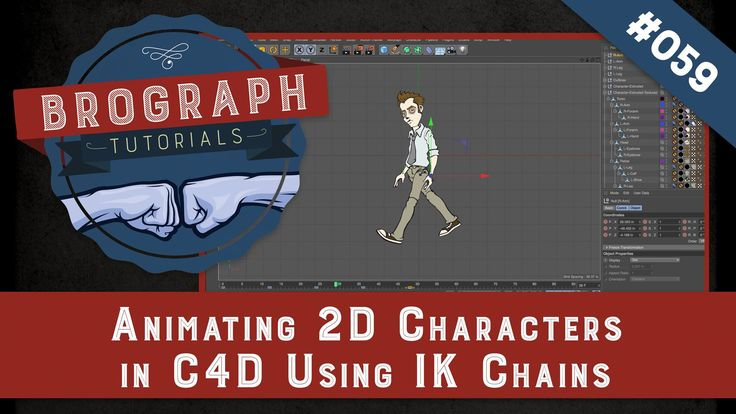 Brograph Tutorial 059 - Animating 2D Characters from Illustrator in C4D using IK Chains