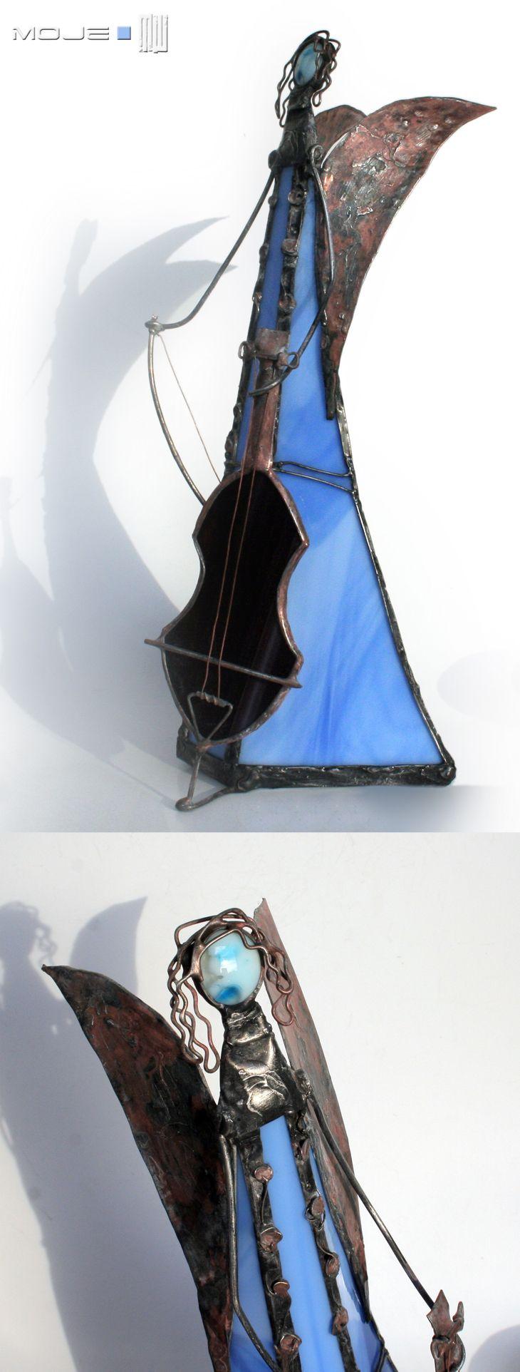 Anioł / Angel. Witraż Tiffany / Tiffany Stained Glass. Dekoracje do domu. Glass Angel. Moje MW