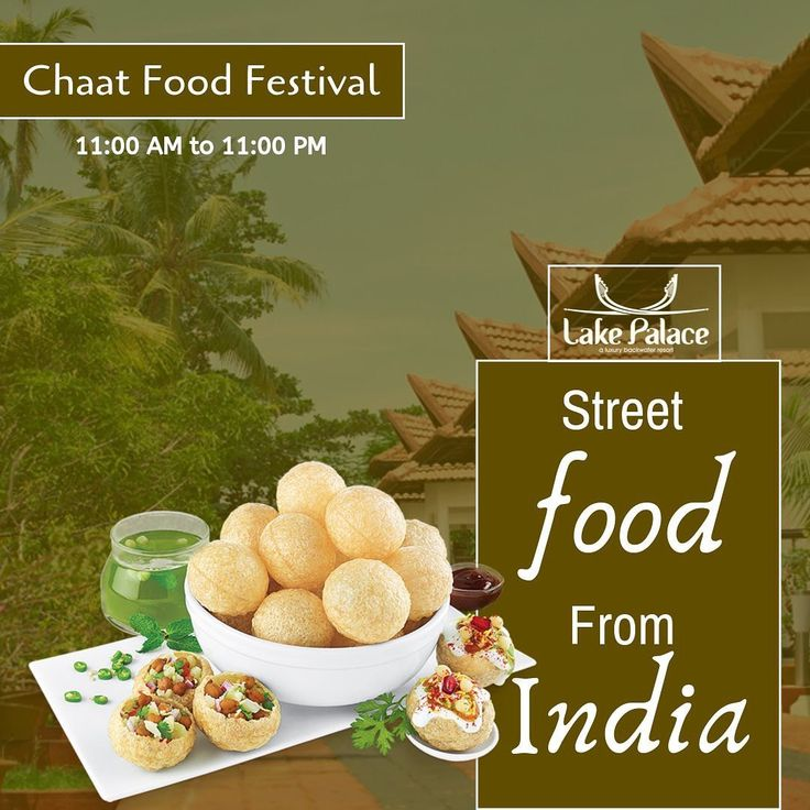 The Indian street food festival from today.! #ChaatFest #Food #LakePalaceResort …