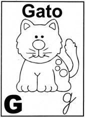 letra g alfabeto para colorir