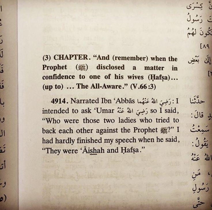 Bukhari: A'isha & Hafsa create problems for Prophet ص