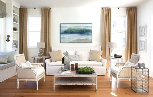 neutral LR, with colorful artwork  traditional living room by Lisa Kauffman Tharp - Kauffman Tharp Design