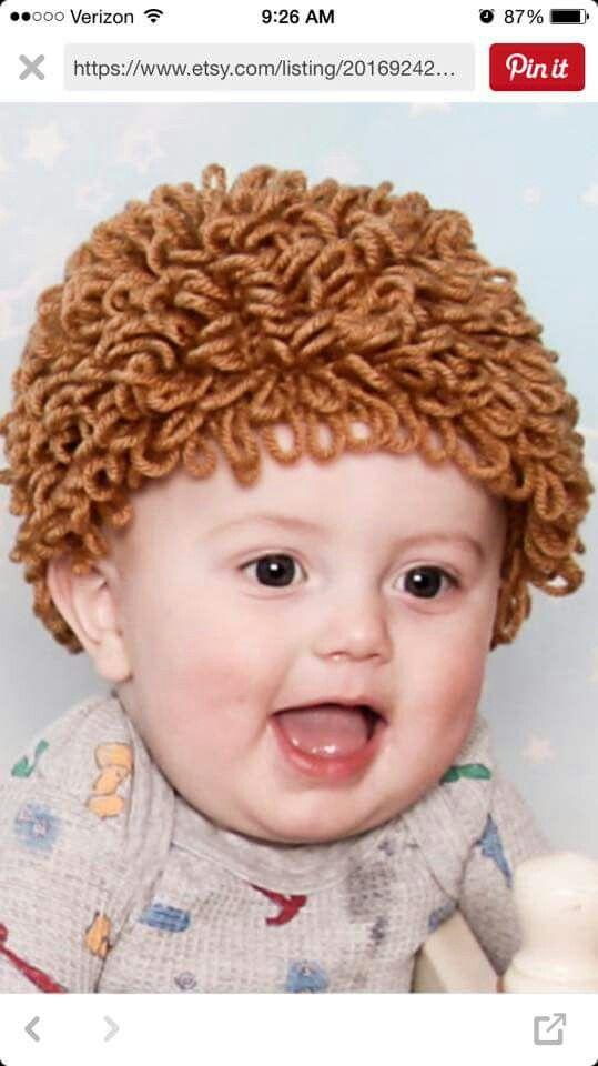 Crochet boy cabbage patch hat