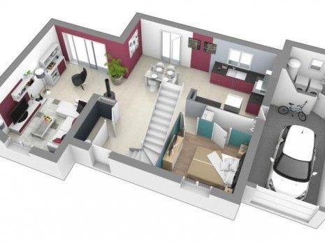les 25 meilleures id es concernant plan maison etage sur pinterest plan de maison ouvert sims. Black Bedroom Furniture Sets. Home Design Ideas