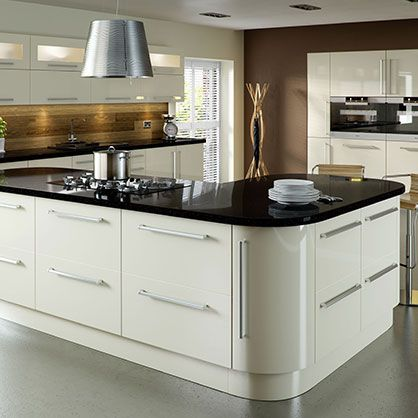 Vico Alabaster Gloss Replacement Kitchen Cabinet Doors | Made to Measure Kitchen Doors   #kitchenremodel #kitchens