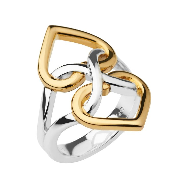 18K Yellow Gold Vermeil & Sterling Silver Infinite Love Ring  | Women Rings, Official Links of London