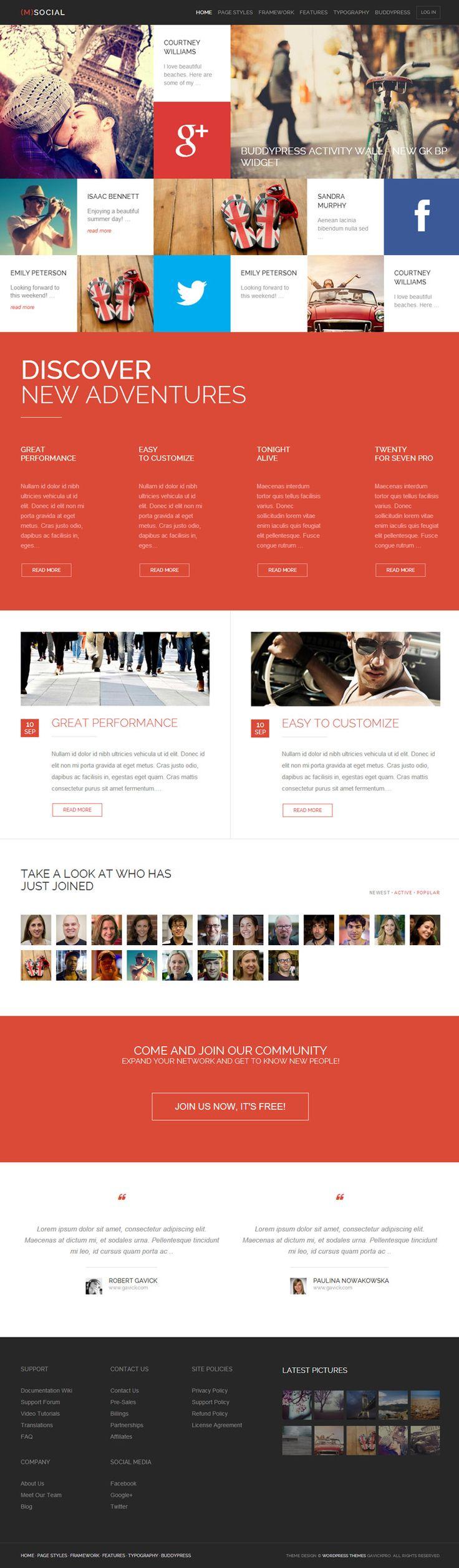 Un web ideal per una empresa amb serveis de social media. #enterprise #cards #tecnodart