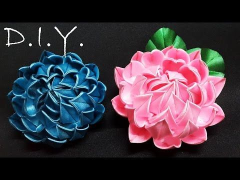 D.I.Y. New Kanzashi Lotus - YouTube