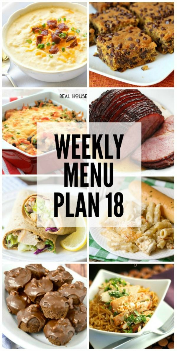 An all new weekly menu plan to help you plan out your meals next week!