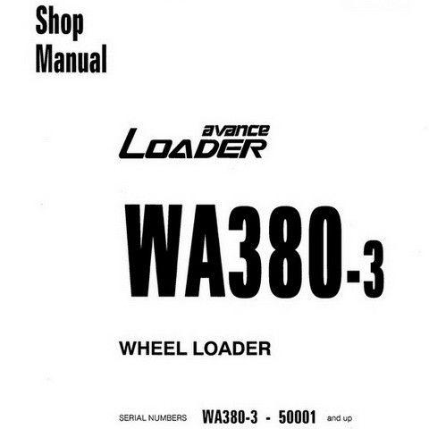 Komatsu WA380-3 Wheel Loader Service Repair Shop Manual