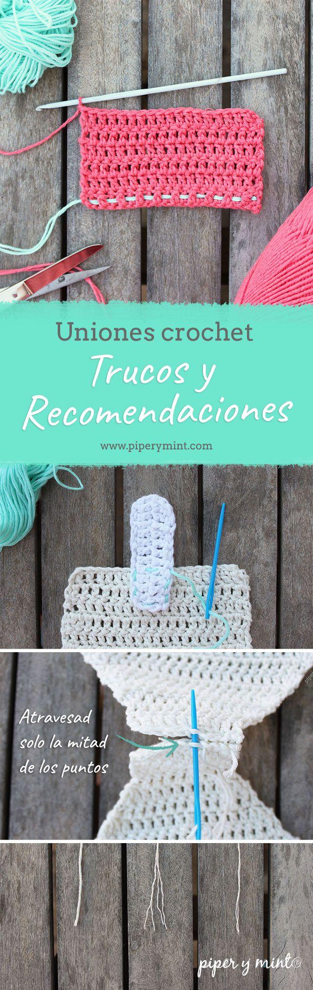 Cómo hacer uniones en crochet, como coser ganchillo