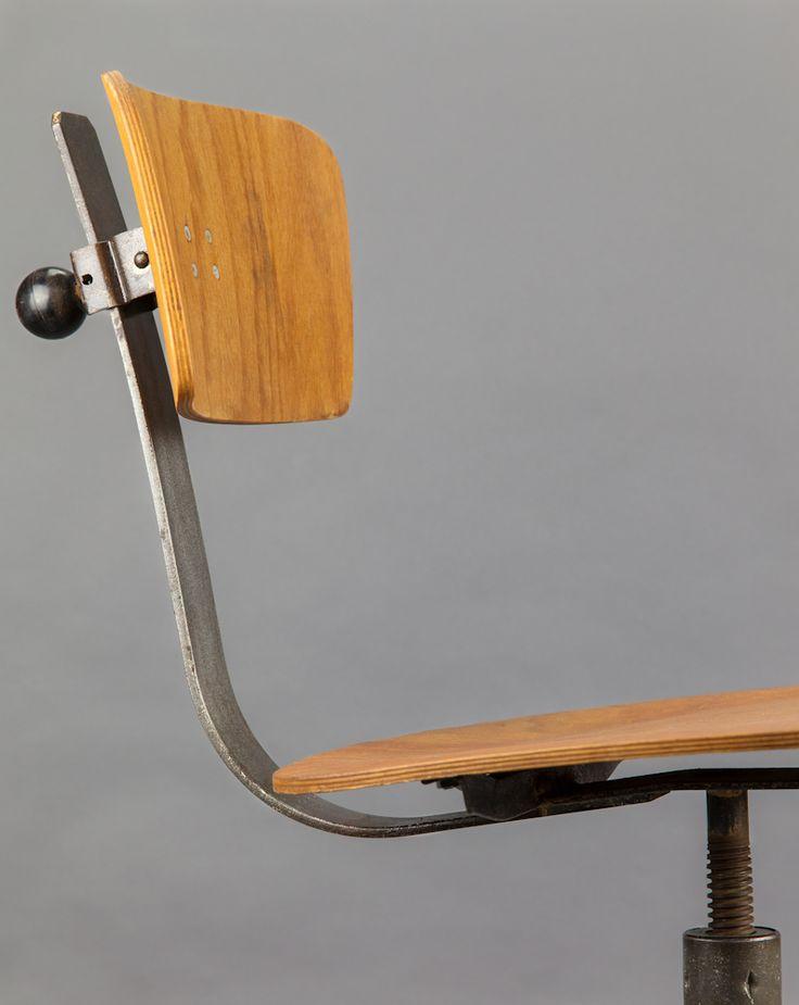 'DDR Office Chair' #blomandblom #lighting #lamps #amsterdam #interiordesign #industrial #interior #design #furniture #clock