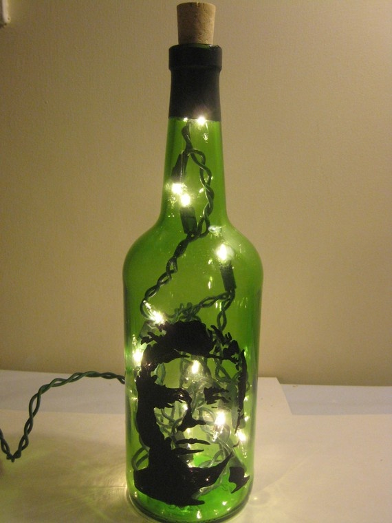 Famous Faces Wine Bottle Lamp  James Dean by AllyBoosCreations, $17.95