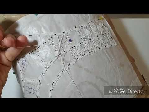 Artesanato RENDA Renascença passo a passo como fazer o ponto teia de aranha diferente-DIY - YouTube
