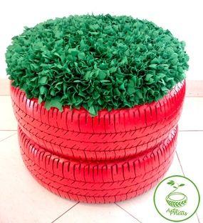 Jardinière pneu