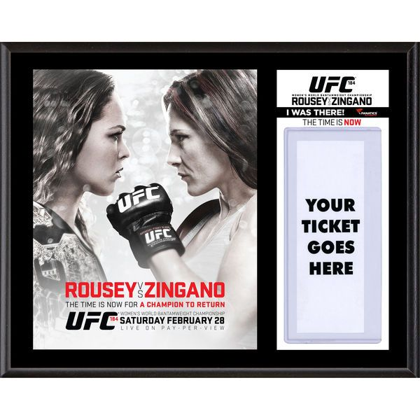 "Fanatics Authentic UFC 184 Ronda Rousey vs. Cat Zingano Dueling ""I Was There"" 12"" x 15"" Sublimated Plaque - $39.99"