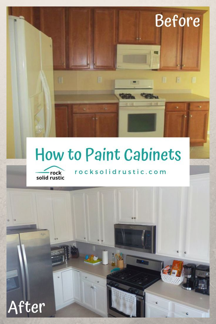 How To Update Your Kitchen Cabinets With Paint The Right Way We Give Our Best Tips And Tricks For An Easy Makeover Painting Cabinets Cheap Home Decor Cabinet