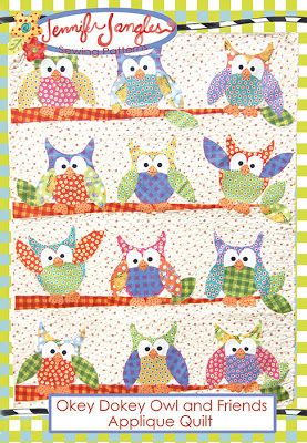 Okey Dokey Owl and Friends Applique Quilt Pattern