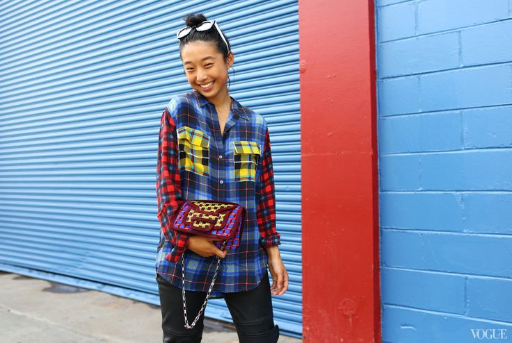 Margaret Zhang at Karen Walker - Pierre Hardy bag