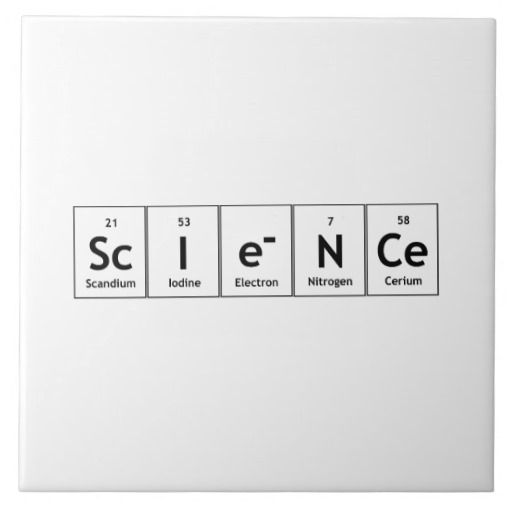 science periodic table elements word chemistry ceramic tiles