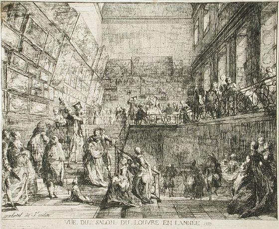 Vue du salon du louvre en lann e 1753 gabriel de saint for Salon du louvres