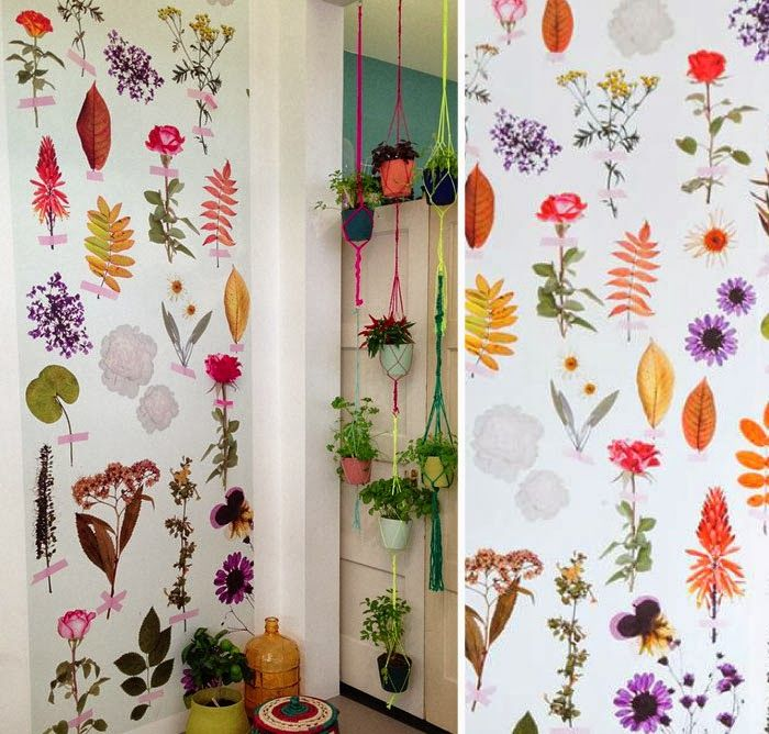 Fabulous wallpapers from onszelf. It'd be neat to label each plant as if it were from an old thesaurus too!