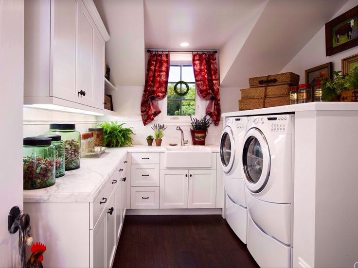 Cottage Purple Laundry Room Design Ideas & Pictures | Zillow Digs