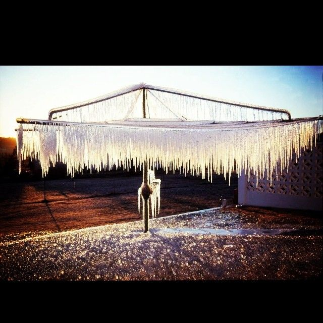Now THIS is cold...and sooo Australian. Stunning pic from the Stanthorpe Border Post. Australia