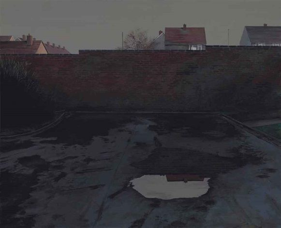 Scenes from The Passion: The Wall after the Rain by George Shaw