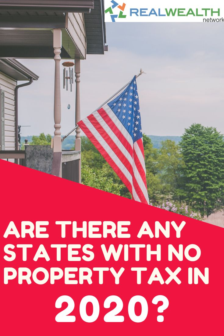 Find out if there are any states with no property tax