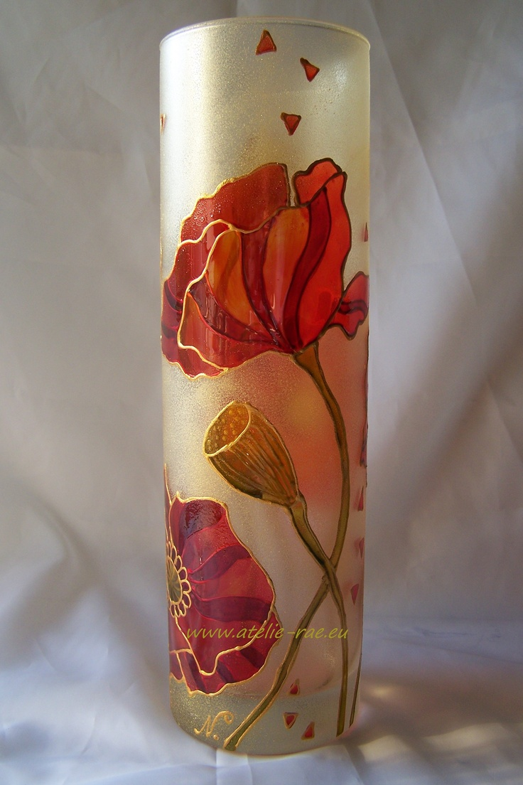 Hand-painted glass Stained glass paints www.atelie-rae.eu