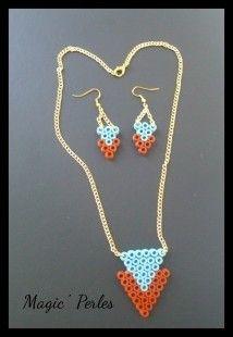 Parure collier et boucles d'oreille tendance  : Perles par magic-perles sur ALittleMarket