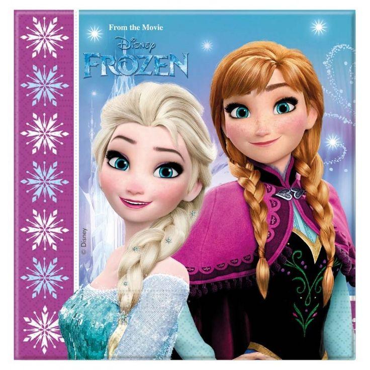Disney Frozen Servetten Lights 33x33cm - 20 stuks.