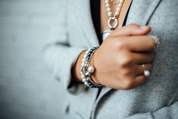 You can never go wrong with layers of pearls...