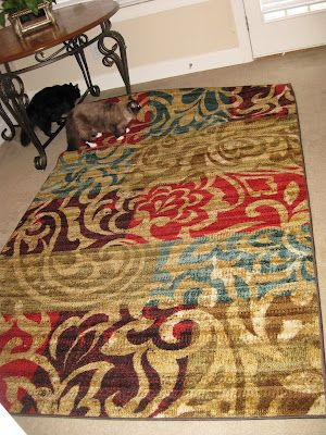 It is full of vibrant, bold colors including hues of red, orange, plum, olive and teal.Balanced Life, Rugs Giveaways, Fans Club, Area Rugs, Mohawks Rugs, Balance Life, Bold Colors, Pinterest Fanatic, Ultimate Fans