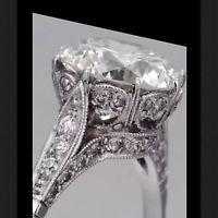 2.58 Ct  Edwardian Antique/Style Genuine Natural Diamond Engagement Ring VS2 F